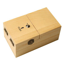 What On Earth Useless Box Battery Operated Wooden Novelty Trick Toy with Switch