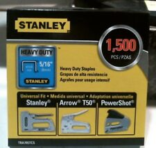 """Stanley TRA705TCS Heavy Duty Staples 5/16"""" 1500 Staples FREE SHIPPING"""