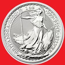 2020 1oz Silver Britannia Bullion Coin in coin capsule