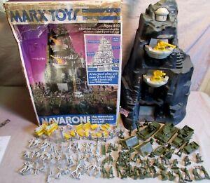 1960's Marx playset boxed Guns of Navarone mountain army battleground