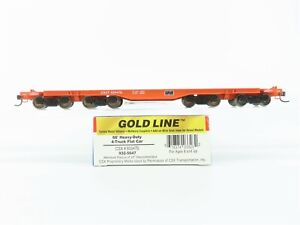 HO Scale Walthers Gold Line 932-5647 CSX Railroad 66' 4-Truck Flat Car #600470