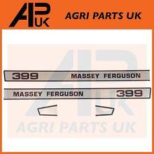 Massey Ferguson 399 Tractor Bonnet lado Calcomanía Pegatinas Transferencias Set Kit