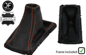 ORANGE STITCH LEATHER AUTO SHIFT BOOT + PLASTIC FRAME FOR CADILLAC SRX 2010-2016