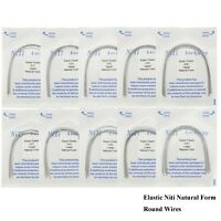 Dental Orthodontic Elastic Niti Natural Form Arch Wires Round Upper Lower 12 -20