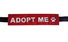 Adopt Me Dog Leash Sleeve for foster / shelter / rescue dogs
