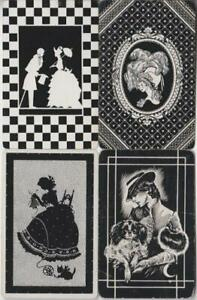 BLACK & WHITE #Q2a    4 Single ID Swap Playing Cards