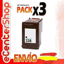 3 Cartuchos Tinta Negra / Negro HP 338 Reman HP Photosmart C3180