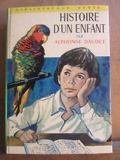 Alphonse Daudet: Histoire d'un enfant / Bibliothèque Verte, Hachette, 1973