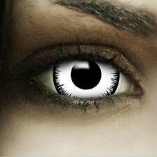 "Mini Sclera Lenses ""Vampir"" weiße Kontaktlinsen Crazy Farbige Halloween Linsen"