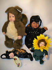 anne geddes Baby dolls Butterfly Sunflower squirrell toy lot