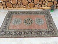 3'10''x5'10'' Antique Rug Carpet,Vintage Oushak Rug,Large Turkish Rug,Ushak Rug