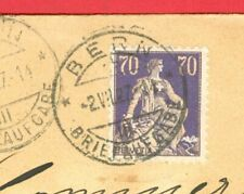 Switzerland 70c Solo used on Registered cover to USA 1927