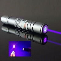PH2-A Silver Adjustable Focus 405nm Purple Laser Pointer PetToy Visible Beam pen