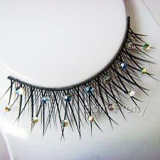 1 Paar Strassstein Dekor künstlich Falsche Wimpern False Eyelash Make Up #A06