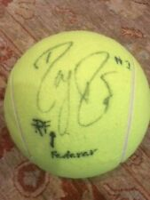 ROGER FEDERER Autographed Sony Ericsson Open Large TENNIS BALL
