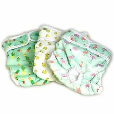 Luxury Reusable Dog Diapers (3-Pack) - Small [NEW Pattern] Durable Dog Wraps