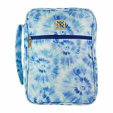 Mary Square Bible Case With Handle Blue Tie Dye Blue Rush