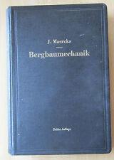 Buch J. Maercks Bergbaumechanik Förder-Technik Maschinen Schüttrutsche Wetterzug