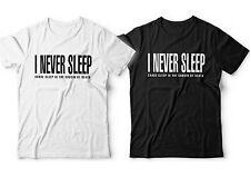 Nas I Never Sleep T-shirt NY Illmatic Mens Escobar Nastradamus Hip Hop