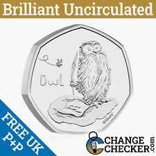 Naked Owl BU 50p 2021 Coin Brilliant Uncirculated - No Packaging