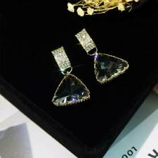 Earrings Personality Dangle Earring Korean Fashion Flash Crystal Triangle