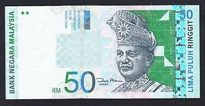 Malaysia 50 Ringgit  1998-01  AU-UNC  P. 43,   Banknote, Uncirculated