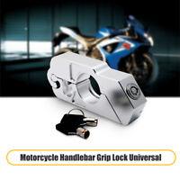 Lucchetto Blocca da Manubrio Leva Freno Moto Antifurto Protezione Argento