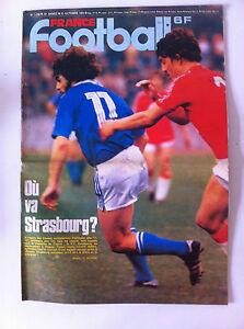 France Football 23/10/1979; RC Strasbourg à Prague/ Nantes/ St-Etienne/ Monaco