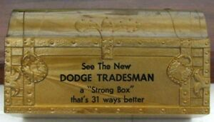 RARE EARLY ORIGINAL NOS DODGE PROMOTIONAL ADVERTISING BANK VERY NICE L@@K #F869