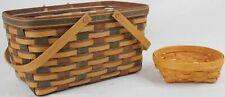 New ListingLongaberger Hand Woven Baskets Assorted (Lot of 2)