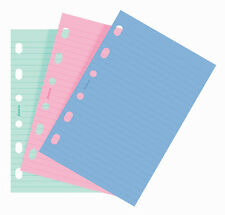 Filofax Pocket Size Fashion Coloured Notepaper Ruled Diary Refill Insert 210507