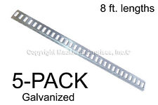 E Track - Mfg In The USA - 8 ft Horizontal/Trailer Tiedown - Galvanized 5 Pieces