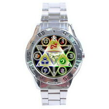 The Legend of Zelda Triforce Stainless Steel Analogue Watch for Men NEW Gift