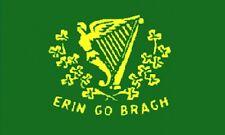 3'x5' ERIN GO BRAGH IRISH FLAG USA BANNER IRELAND FOREVER EMERALD ISLE HUGE 3X5