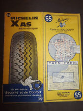 Carte michelin 55 caen paris 1968