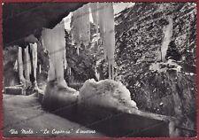 BERGAMO VALLE di SCALVE 04 VIA MALA VIAMALA - NEVE Cartolina FOTOGR. viagg. 1957