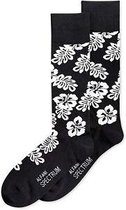 Alfani Men's Spectrum Black Hibiscus Socks Size 10-13