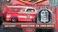 """Hot Wheels Dairy Delivery """"Fire Rods"""". Houston TX. Fire Department. Mint on Mint"""