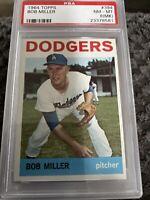 1964 Topps #394 PSA 8 Bob Miller Dodgers PSA 8 NM - MT