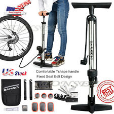 Pump High Pressure Bicycle Bike Mini Air Floor Gauge Tire Compact Psi New Mtb