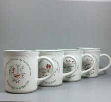 Pfaltzgraff Winterberry 12 Days Of Christmas Mugs Days 1-4
