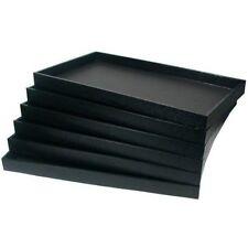 """12 Jewelry Insert Trays Black Organizer 14 ¾ X 8 ¼"""" X 1"""" Storage Faux Leather"""