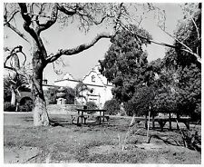 1951 Original Photo outside landscape view of Mission of San Luis Rey de Francia