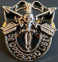 Special Forces Mini Skull Crest DI Pin Uniform US Army SF Airborne SOG SILVER