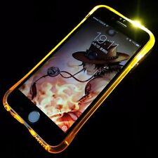 GUSCIO per cellulare luce LED per chiamata per Cellulare Apple iPhone X ORO CASE COVER BUMPER