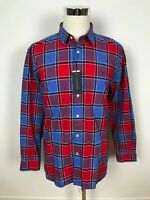 NEW Tommy Hilfiger Mens Sailing Casual Button Dress Shirt Apple Red Size XL