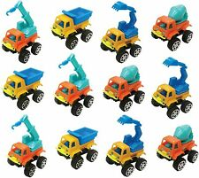 Pull Back Vehicles , Assorted Construction Vehicles Toys 12 Pack
