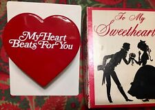 Vtg Valentines Day Mcm Midcentury 1957 Wind Up Beating Heart Throb Fishlove