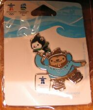 Quatchi and Miga figure skating 1264 AUTHENTIC Vancouver 2010 Winter Olympic PIN