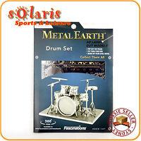 Fascinations Metal Earth 8-Piece Drum Set 3D Miniature Music Instrument Model